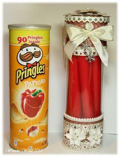 Wenches Kort og Papir: Pringles boks til jul!