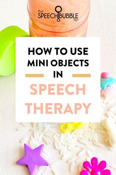 Here are some ways you can boost motivation in speech therapy with the use of trinkets, mini objects, etc. #slp #schoolslp #speechtherapy #sped