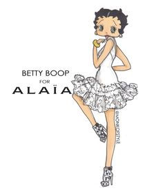 Betty Boop re-imagined for Alaia