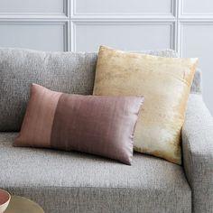 Ombre Velvet Pillow Cover - Gold   west elm