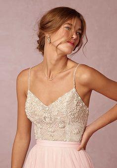 BHLDN Ella Bodysuit & Amora Skirt Wedding Dress - The Knot