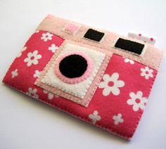 Camera Case Pink Flowery