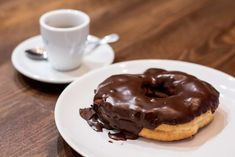 madrid-cool-blog-sana-locura-donut-chocolate-g Sin Gluten, Gluten Free, Doughnut, Pudding, Chocolate Chocolate, Desserts, Cool, Bakery, Croissants