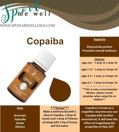 Copaiba, Young Living Essential Oils, magnifier oil, dilution ratios
