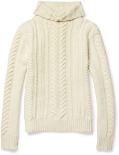 Balmain ~ Cable knit Merino Wool Sweater