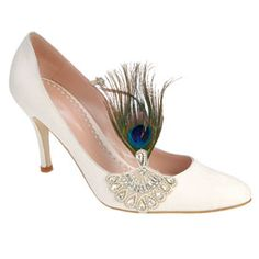 peacock feather shoe
