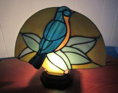 Items similar to Tree Branch Stained Glass Lamp on Etsy