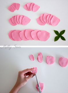 Step 1 - How to make a felt peony - felt flower tutorial by Melly Sews