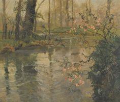 Johan Frederik Thaulow (Fritz Thaulow), Orillas del río en primavera