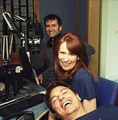 John Barrowman, Catherine Tate, and David Tennant