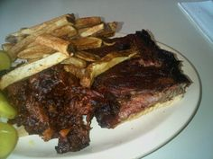 Chase Hanna@channa05   Burnt ends, pork ribs and fries from Arthur Bryants in Kansas City, MO