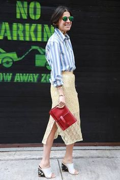 Resultado de imagen para red mules outfit