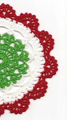 Christmas Crochet doily lace doilies table by faustapink900, £1.00