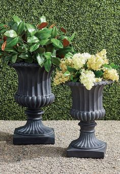 If you are looking for the quintessential, classic planter to add to your garden, terrace, or entryway, look no further than our Tuscany Urns. These all-weather urns have the antique flair of a 19th-century cast-iron urn, but with a fraction of the weight—and the cost.