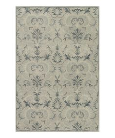 This Light Gray & Slate Fairfield Wool Rug is perfect! #zulilyfinds