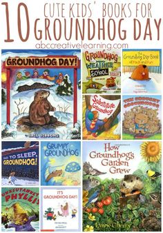 10 Cute Kids Books for Groundhog Day!