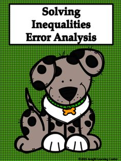 Inequalities Error Analysis from Insight Learning Mathematics on TeachersNotebook.com -  (4 pages)  - Inequalities