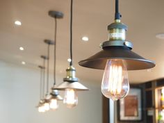 Simple yet modern and elegant all in 1. We love these new hanging lights in the Grovedale Hotel.