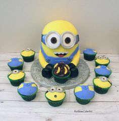 Minion  by Reckless Cake Art