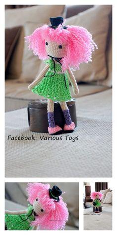 Amigurumi Pink Little Layd Free Pattern – Amigurumi Free Patterns And Tutorials Amigurumi Toys, Amigurumi Patterns, Crochet Dolls, Crochet Hats, 4 Ply Yarn, Mohair Yarn, Hello Dear, Rabbit Ears