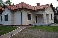 Projekt domu Ramzes 112,2 m2 - koszt budowy 241 tys. zł - EXTRADOM Home Paint Colour, Paint Colors, Sweet Home Design, House Painting, My House, House Plans, House Design, Outdoor Decor, Gallery