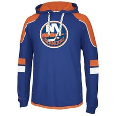 Reebok New York Islanders Faceoff Edge Team Jersey Pullover Hoodie - Royal Blue