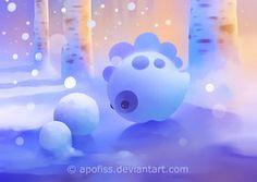 snow dino by *Apofiss on deviantART