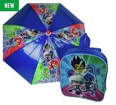 PJ Masks Reversible Backpack and Umbrella Set Kids Umbrellas, Pj Mask, Masks, Backpacks, Backpack, Backpacker, Backpacking, Face Masks
