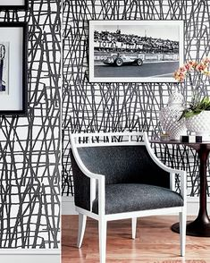 Designer Wallpaper Online Store for USA & Canada Silver Wallpaper, Black And White Wallpaper, Modern Wallpaper, New Wallpaper, Designer Wallpaper, Wallpaper Online, Wallpaper Ideas, Black And White Interior, Black White