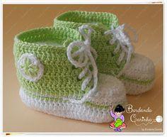 Bordando Carinho ♥: All Star em Crochê para Bebê