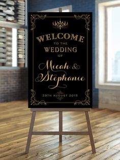 Welcome to our Wedding Sign Poster Sized by CharmingEndeavours Art Deco Wedding, Wedding Paper, Wedding Welcome Board, Wedding Window, Motif Vintage, Wedding Posters, Wedding Sets, Wedding Reception, Sign Printing