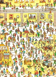 buscando a wally Wheres Wally, Bottle Cap Images, Attention, Style Inspiration, Ideas, Art, Full Body Tattoos, Brain Games, Riddles