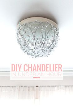 How to make a diy chandelier in an hour diy chandelier how to make a diy chandelier in an hour diy chandelier chandeliers and easy aloadofball Image collections