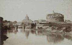 Rome, Castel S. Angelo and Tiber 1853 (ca) Dilute Albumen print