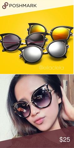 Star Style Designer Women Sunglasses Brand New Silver is out of stock for now. Do you like the black or reddish yellow? To buy, please comment the color and I'll make you a separate listing. Accessories Sunglasses