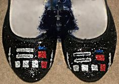 9d4259c34f Darth Vader Star Wars Glitter flat shoes