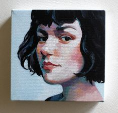 This listing is for a tiny canvas print. This rare canvas will make a precious gift. An amusing size, you can hang it on a wall or notice board or carry it in your purse! The print is of a painting made with acrylic paint, now printed on canvas and mounted on a wood frame with staples. The