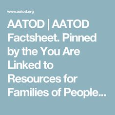 AATOD | AATOD Factsheet. Pinned by the You Are Linked to Resources for Families of People with Substance Use  Disorder cell phone / tablet app March 6, 2017;  Android- https://play.google.com/store/apps/details?id=com.thousandcodes.urlinked.lite   iPhone -  https://itunes.apple.com/us/app/you-are-linked-to-resources/id743245884?mt=8com