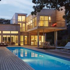 beautiful container home with swimming pool