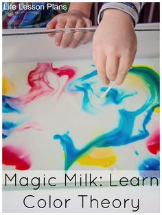 Magic Milk--learn about color mixing. I love this idea from Life Lesson Plans. We will have to try it!