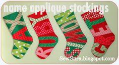 Name Applique Stockings