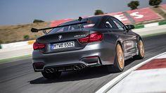 2016 BMW GTS water-injection rear on track Bmw M4 Gts, 2016 Bmw M4, New Bmw M3, Latest Bmw, Bmw Dealership, Automobile, Tokyo Motor Show, Bavarian Motor Works, Bmw 4 Series