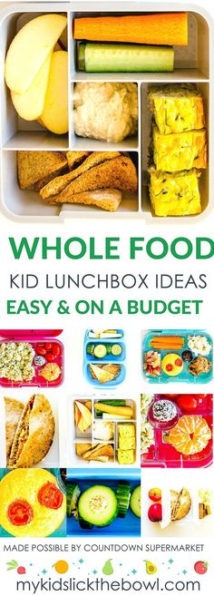 Healthy wholefood lunchbox ideas for kids on a budget. Simple ideas and easy recipes that are budget friendly Healthy wholefood lunchbox ideas for kids on a budget. Simple ideas and easy recipes that are budget friendly Cooking With Kids Easy, Kids Cooking Recipes, Baby Food Recipes, Kids Meals, Whole Food Recipes, Easy Meals, Cooking Games, Cooking Classes, Snacks Recipes