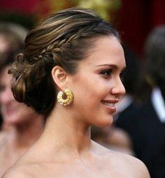 Jessica Alba - 2013 Braided Hairstyles - Fun Braids and Braided Updo Hair Styles