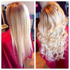 Her final product after Ombré color and babe extensions looking absolutely amazing!!#hair#kayshairr