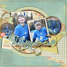 Stunning BOY page by @Missy Carlson-Strand. Love it! | Uniquely You kit from peppermintcreative.com
