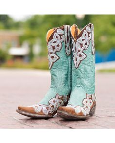 Old Gringo Women's Marrione Boot - Brass/Aqua  http://www.countryoutfitter.com/products/31298-womens-marrione-boot-brass-aqua #cowgirlboots