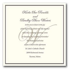 Formal Wording For Wedding Invitations   The Wedding Specialists