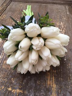 Tone in Tone - Tone in Tone White Tulip Bouquet, White Bouquets, White Tulips, Floral Design, Bridal, Self, Floral Patterns, Brides, Bride