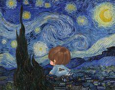 V Chibi, Night, Artwork, Painting, Work Of Art, Auguste Rodin Artwork, Painting Art, Artworks, Paintings